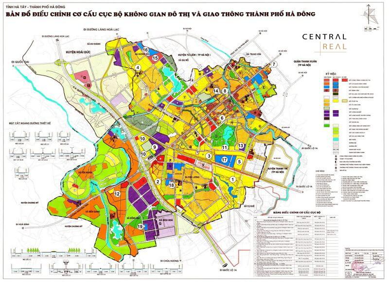 Một số quy hoạch khác tại quận Hà Đông