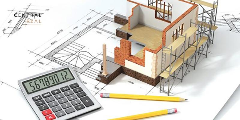 Diện tích phần móng được xác định dựa trên diện tích tầng trệt, cách tính mét vuông