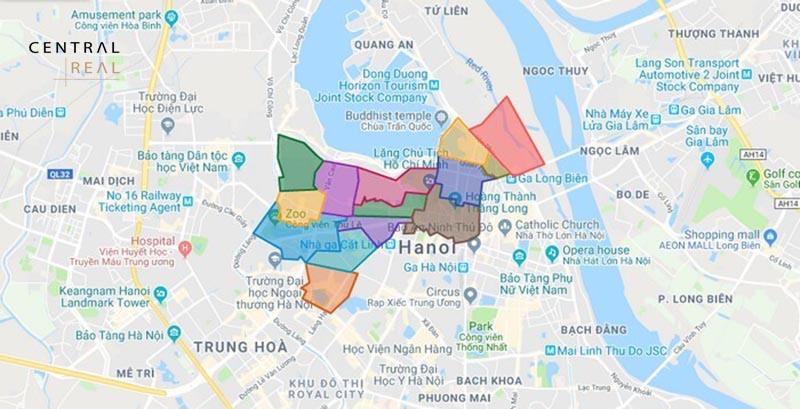 Thông tin chung về bản đồ quy hoạch quận Ba Đình Hà Nội