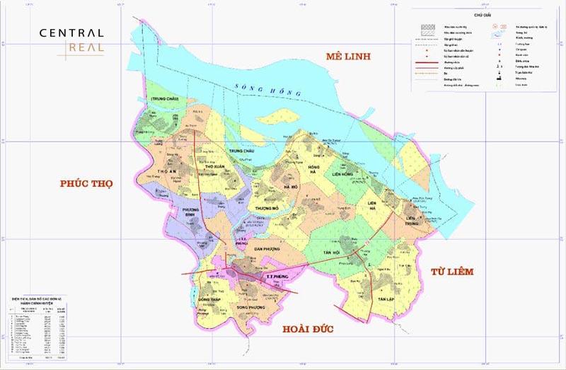 Vị trí huyện Đan Phượng Hà Nội