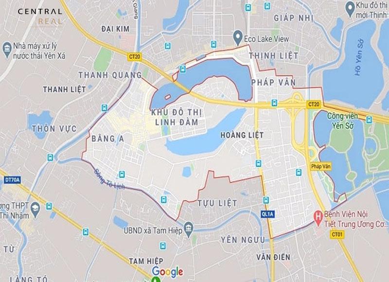 Vị trí bản đồ quy hoạch quận Hoàng Mai
