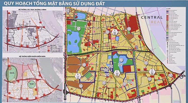 Bản đồ quy hoạch phân khu đô thị H1-4 quận Hai Bà Trưng.