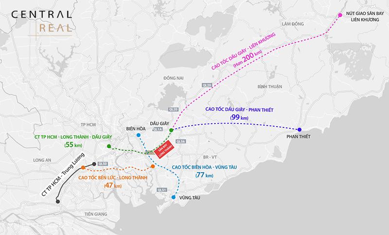 Quy hoạch dự án cao tốc Dầu Giây Phan Thiết