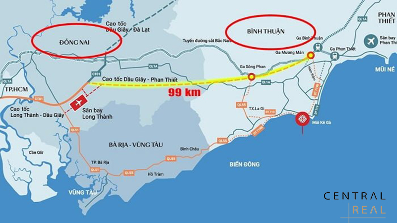 Thiết kế toàn tuyến cao tốc Dầu Giây Phan Thiết
