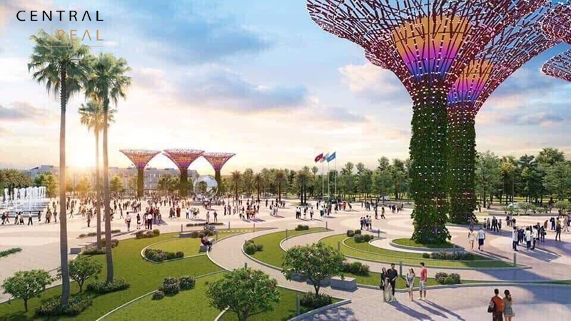 Quy mô rộng lớn của công viên ánh sáng Vinhomes Grand Park