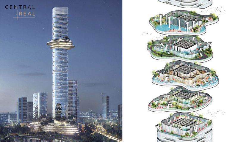 Thiết kế tòa Empire Tower 88 tầng