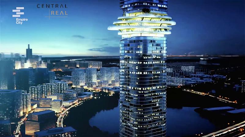 Phan dinh cua toa nha Empire City Tower