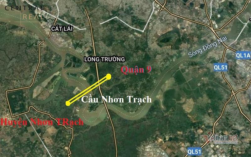 Vị trí Cầu Nhơn Trạch nối TP.HCM và Đồng Nai