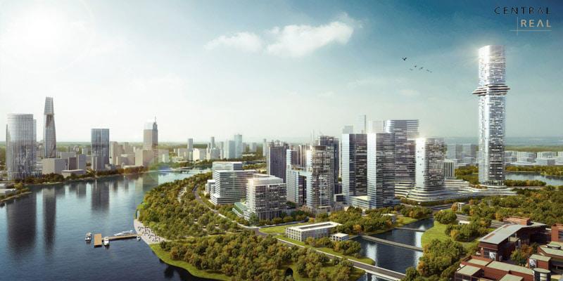 Phối cảnh thiết kế dự án Empire City 88 tầng