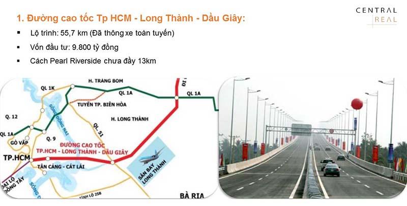Bản đồ toàn tuyến đường cao tốc Long Thành - Dầu Giây