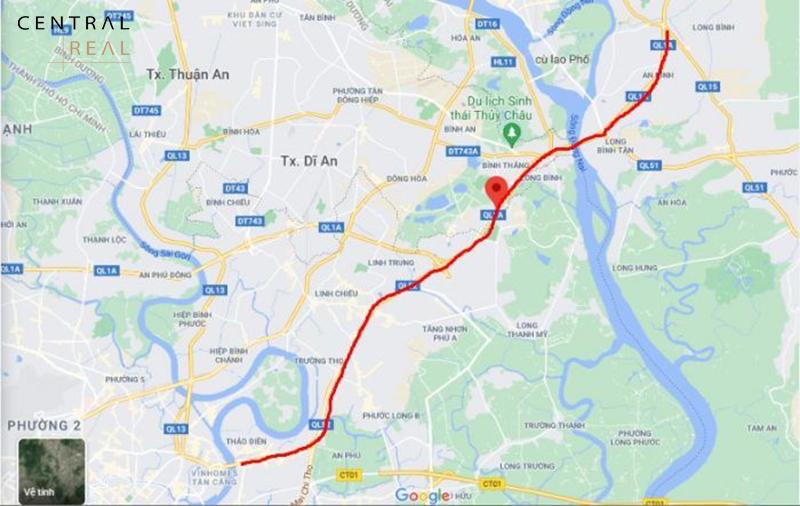 Vị trí của đường Xa lộ Hà Nội