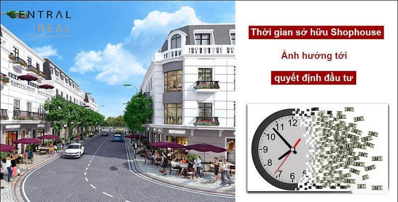 Sổ đỏ Shophouse thương mại bị giới hạn thời gian